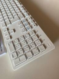 Teclado Branco Dell + Mouse