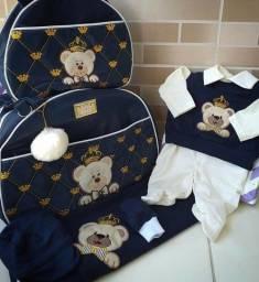 Conjunto completo bolsas maternidade e saída