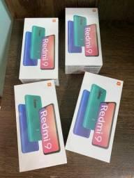 XIAOMI REDMI 9 64GB 4GB RAM TELA 6.53 novos disponíveis
