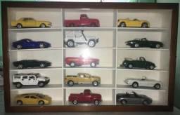 Coleção de Carros do Jornal Super mais caixa com suporte para colocar na parede