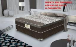 Cama Box com Colchão Molas Flora Gazin - Novo