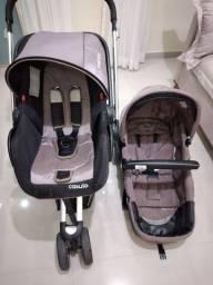 Carrinho de bebê Kiddo Compass II com bebê conforto casulo