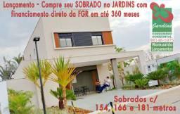 Lançamento Jardins - Sobrados 3 suítes + home office em Senador e Aparecida