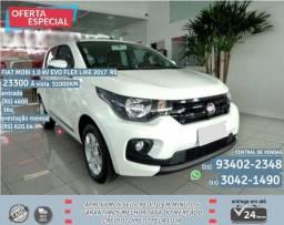 Branco Fiat Mobi 1.0 8V Evo Flex Like 2017 R$ 23333 51011 Km - 2017