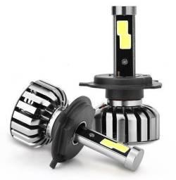 Par de lâmpadas LED H4 80W para carro