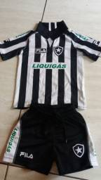 Conjunto infantil Botafogo tam 4 anos Fila oficial