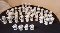 Coleção de Canecas Pequenas de Porcelana Bar do Alemão