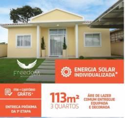 14- Freedom Residence. Casas a Pronta entrega, com energia solar!