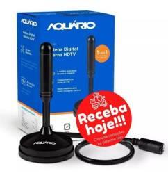 COD: 0665 Antena Digital Dtv100 4 Em 1 Hdtv Vhf Uhf Fm Dtv-100 Aquario (Entrega grais)