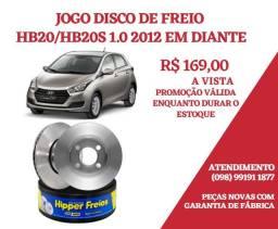 JOGO DISCO DE FREIO HB20 2012 EM DIANTE