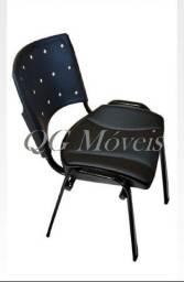 Cadeira fixa estofada (novas) 03 anos garantia