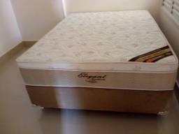Cama Box + Colchao Ortobom Elegante Casal 138x188 Confira