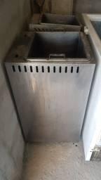 Fritadeira agua e oleo freezer horizontal