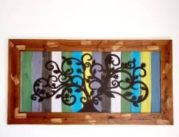 Quadro de madeira maciça, usado comprar usado  Curitiba