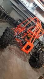 Usado, Kart Cross  buggy gaiola  estrura  pronta só colocar o motor  de 600cc pra cima comprar usado  Cotia