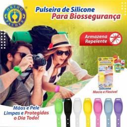 Pulseira de Silicone Pra Proteção do seu dia a dia