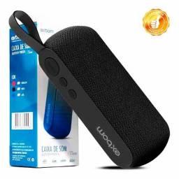 Caixa Portátil Bluetooth 3W com Rádio FM Usb Micro SD Exbom CS-M29BT Preta