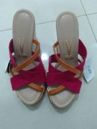 Sandália tamanco vizzano, num. 35, nova