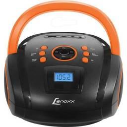 Rádio Portátil Lenoxx Boombox Preto e Laranja - Bd108