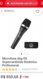 Microfone dinâmico AKG D5 profissional
