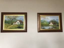 Par de quadros decorativos