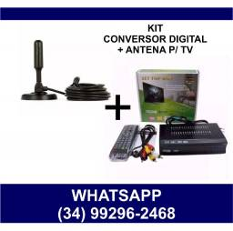 Kit Conversor Digital + Antena Tv * Chame no Whats