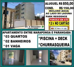 Alugo Apartamento na Maraponga om 03 Quartos e Lazer Com Piscina