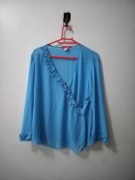 Conjunto Blusa e Saia Azul
