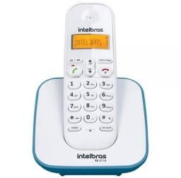 Telefone Sem Fio com Identificador de Chamadas, Azul Claro, TS3110 - Intelbras