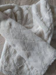Casaco infantil com pérolas- Tam 8