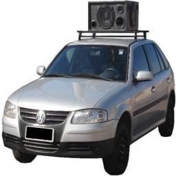 Divulgação em carro de som e edição de vinhetas