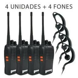 Kit 4 Radios Comunicação Ht Uhf Vhf 16 Canais Baofeng<br><br>