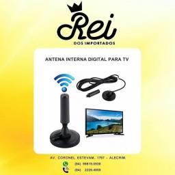 Antena pra televisão/tv com base de imã com captação de sinal e frequência digital HD