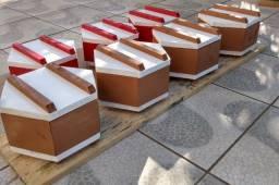 Caixas sextavadas para abelhas ASF