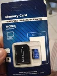 Cartão memória micro sd 64 gb novo
