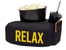 Kit almofada relax com balde de pipoca + copo refri amarelo