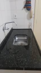 Pia de cozinha granito preto