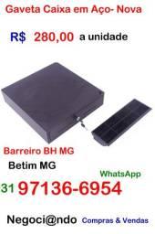 Gaveta Caixa em Aço- Nova- Betim MG ou Barreiro de Baixo BH MG
