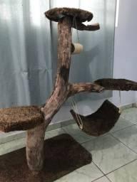 Arranhador para gato Em tronco natural