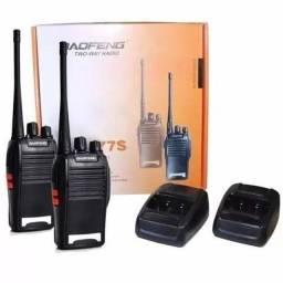 Kit 2 Radio Comunicador 777s Profissional Ht Uhf 16 Canais (aceito cartão)