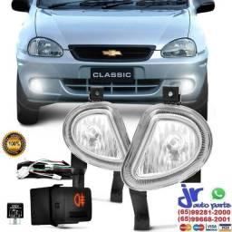 Kit farol de Milha Corsa Classic 03 04 05 06 07 08 09 10 Botão modelo original