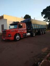Scania 112hw 360 motor novo caminhão caçamba