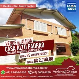 Alugo casa alto padrão em São Bento do Sul