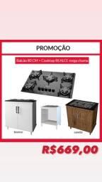 Balcão e cooktop PROMOCAO