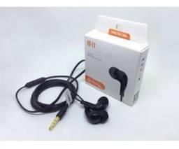 Fone de Ouvido Intra Auricular PmCell Slim Fo 11 Preto Com Fio Celular Xiaomi Samsumg One