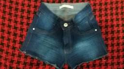 Bermuda jeans barra desfiada