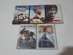 DVD TITANIC,TRANSFORMERS,RAMBO ETC.