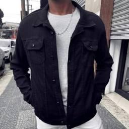 jaqueta jeans feminina e masculina cintura alta no atacado