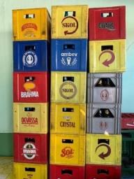 Caixas de cerveja com vasilhame