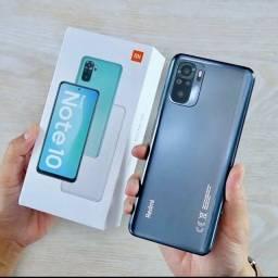 Xiaomi Redmi Note 10 128gb Tela Amoled Touch 120Hz Snapdragon Som Stereo Novo